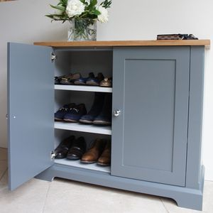 Ashford Slimline Shoe Cupboard In A Choice Of Colours - furniture