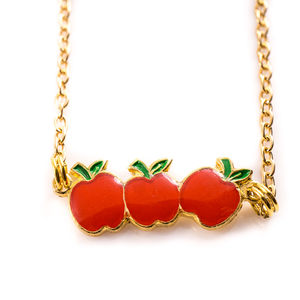 Apple Charm Necklace - children's accessories