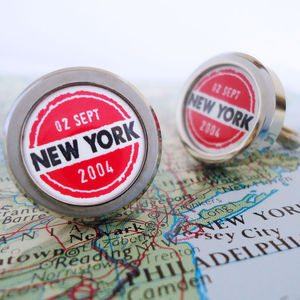 Personalised Travellers Cufflinks - gifts for travel-lovers