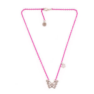 Pink Butterfly Necklace - women's jewellery