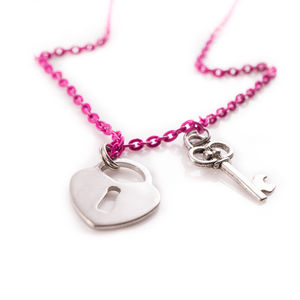 Pink Locket Necklace