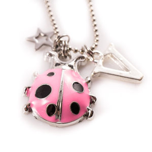 Pink Ladybird Necklace