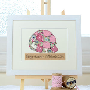 Personalised Elephant Embroidered Artwork