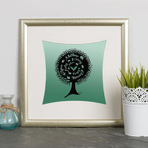 Personalised 'Family Tree' Print - family prints