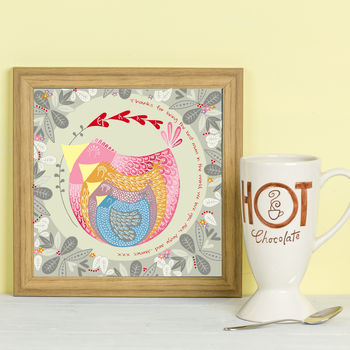 Personalised 'Mama Bird' Framed Print