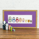 Personalised Deluxe Russian Doll Family Portrait Print