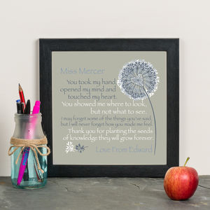 'A Great Teacher' Personalised Print - gifts for teachers