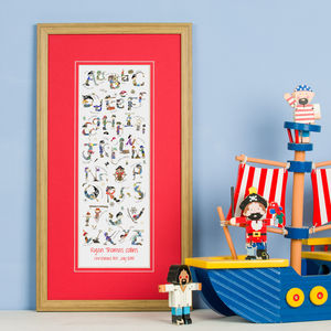 Personalised 'Pirate Alphabet' Print - children's room
