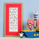 Personalised Pirate Alphabet Children's Print