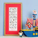 Personalised 'Pirate Alphabet' Print