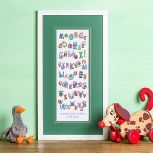 Personalised 'Animal Alphabet' Print