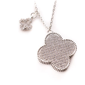 Sparkly Clover Necklace - charm jewellery