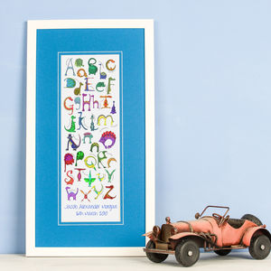 Personalised 'Dinosaur Alphabet' Print - pictures & prints for children