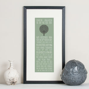 30th Birthday Personalised 'The Day You Were Born' - posters & prints