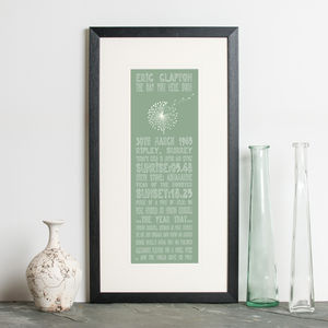 70th Birthday Personalised 'The Day You Were Born' - posters & prints