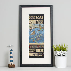 'Row, Row, Row Your Boat' London Print