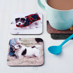 Set Of Four Personalised Drinks Coasters - wedding gifts