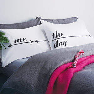 Pillowcase Set For Dog Lovers - bed linen