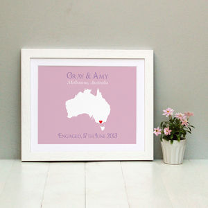 Engaged In Australia Personalised Print