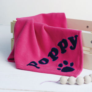 Personalised Dog Blanket - personalised gifts for pets