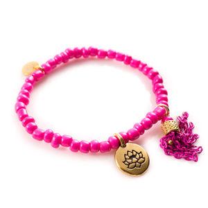 Pink Lotus Leaf Bracelet
