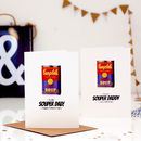 Souper Dad Personalised Pop Art Fathers Day Card