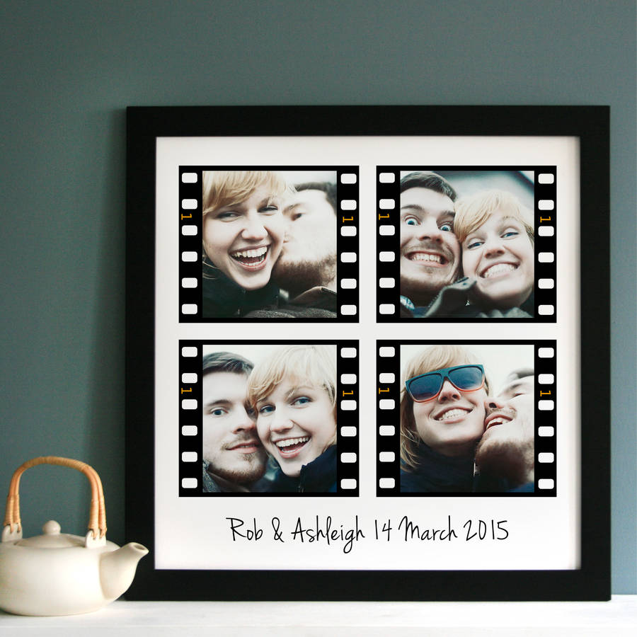 personalised film strip photo collage by cherry pete ...
