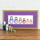 Thumb personalised russian doll family print