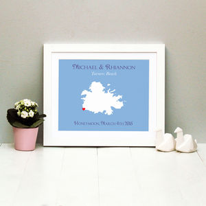 Honeymoon In Antigua Personalised Print