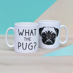'What The Pug?' Ceramic Mug - mugs
