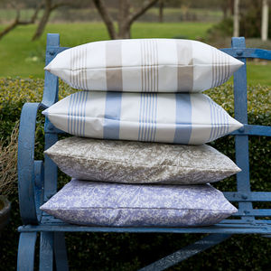 Oilcloth Outdoor Cushions - autumn evenings