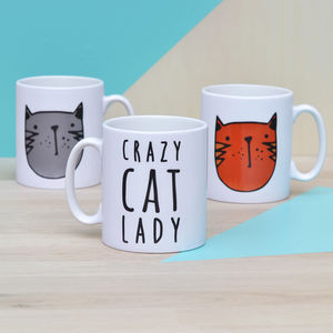 'Crazy Cat Lady' Ceramic Mug - tableware