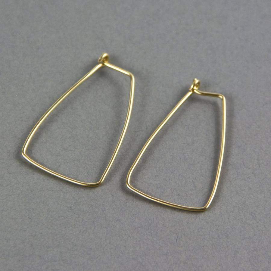contemporary rectangular hoop earrings by gama