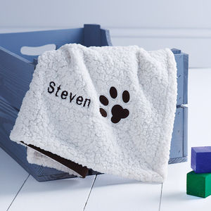 Personalised Polar Fleece Dog Blanket