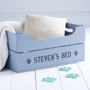Personalised Crate Pet Bed - cats