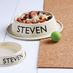 Personalised Pet Bowl - dog bowls & mats