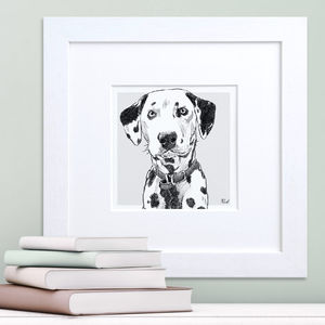 Bespoke Dog Breed Portrait - drawings & illustrations