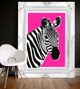 Queeny The Zebra, Canvas Art