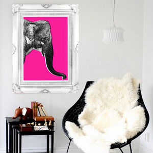 Nelly The Elephant, Animal Canvas Art Print - what's new