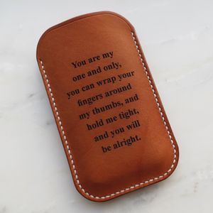 Personalised Leather iPhone Case