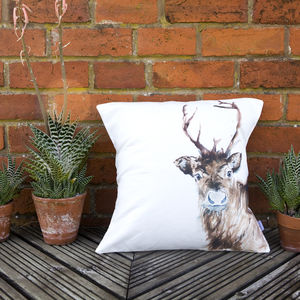 Inky Reindeer Cushion