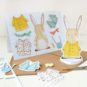 'Dress Up A Rabbit' Card - what's new