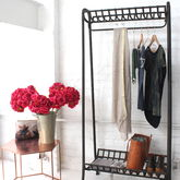 Cast Iron Clothes Rail - bedroom
