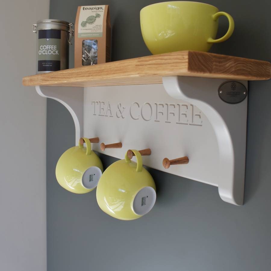 Tea and coffee shelf with mug rack by chatsworth cabinets for Mug racks ideas