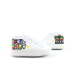 Personalised Royal Baby Canvas Shoes