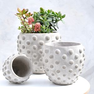 Textured Concrete Planter