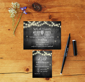 Wedding Invites And RSVP 'S Lights - invitations