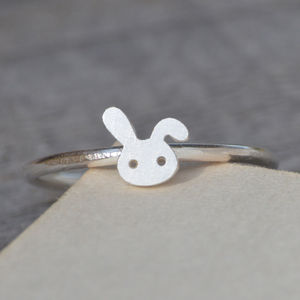 Small Bunny Ring With Floppy Ear