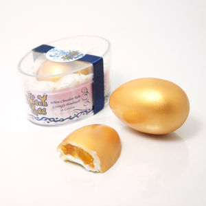 Fairy Tale Golden Egg White Chocolate Peaches And Cream - edible favours
