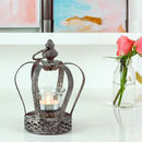 Tea Light Holder Crown Lantern